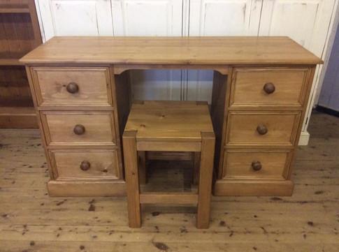 Twin pedestal dressing table/desk.