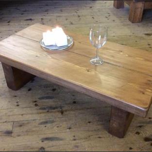 Chunky rustic coffee table