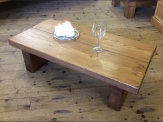 Low chunky rustic coffee table