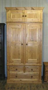 2 door 3 drawer wardrobe with top box
