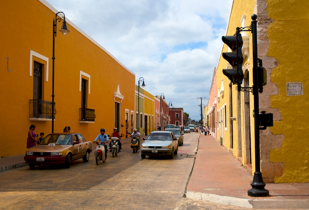 Valladolid colonial street