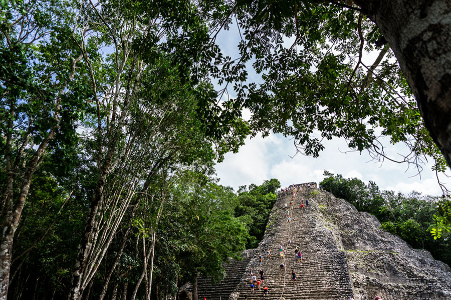 Nohoch muul Coba archaeological