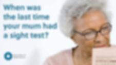 Elderly person's sight
