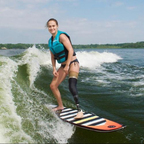 Katie S. wakeboarding
