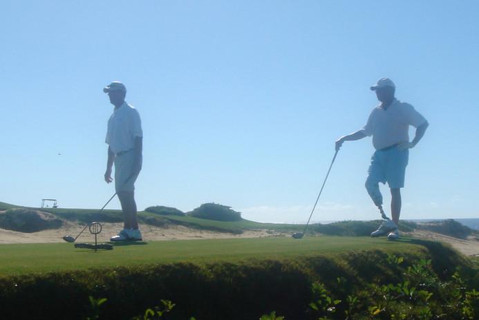 Jan & patient golfing