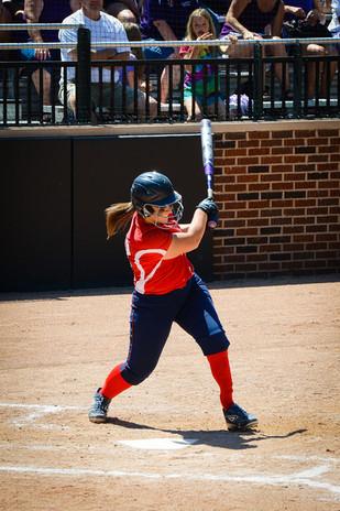 Mackenzie playing softball