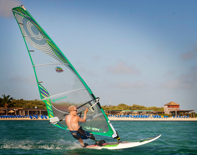 Dave windsurfing