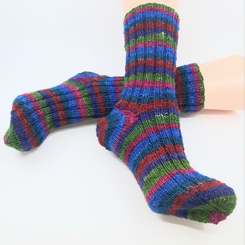 Hand Dyed, Spun and Knitted Socks