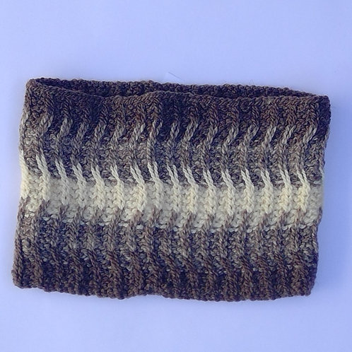 Hand spun and knitted cowl