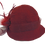 Thumbnail: Burgundy Felted Hat