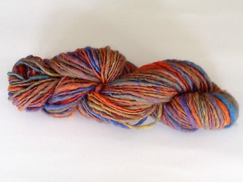 Single Ply Rainbow Woollen Yarn