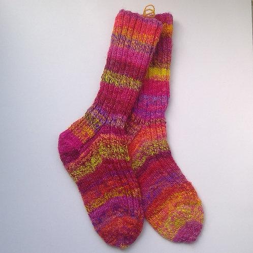 Hand spun and Knitted Woollen Socks