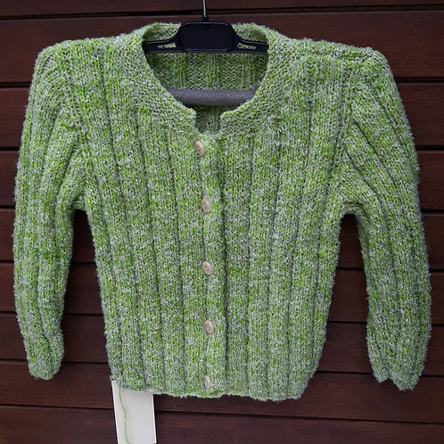 Childs Green Ribbed Cardigan