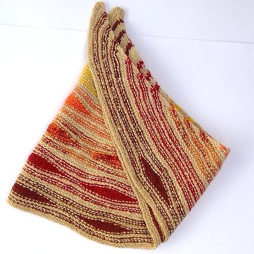 Boomerang Shawl, Autumn Colours