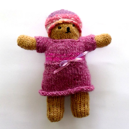 Teddy in Pink Hat and Dress