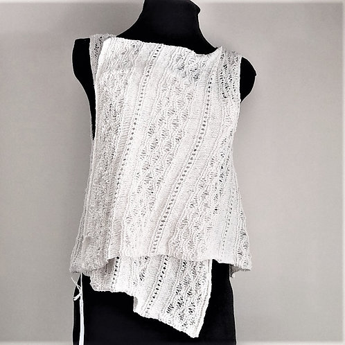 Hand Spun Knitted Cotton Top
