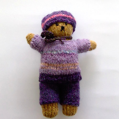 Teddy with Purple Pants