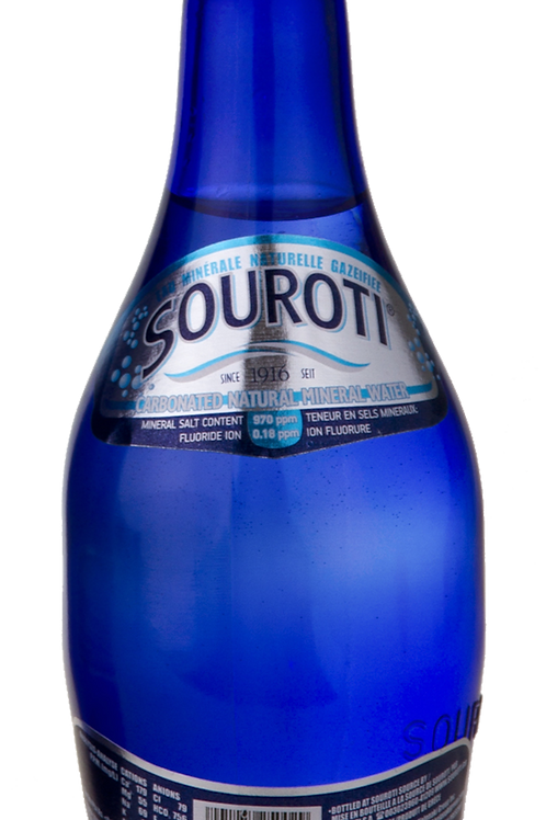 SOUROTI CARBONATED NATURAL MINERAL WATER ( CASE - VARIES IN SIZE )