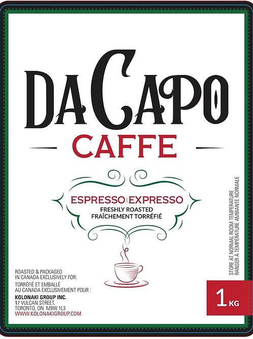 DA CAPO CAFE ESPRESSO WHOLE BEANS ( x 1kg )