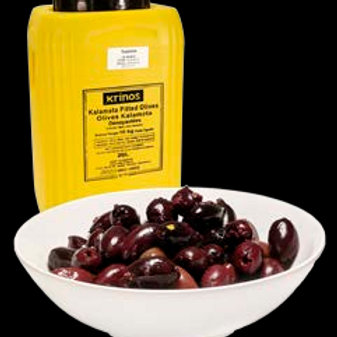 KALAMATA OLIVES PITTED 10KG (Varied Sizes)
