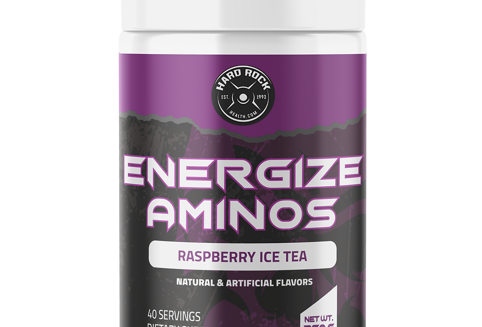 Hard Rock Health Energized Aminos Raspberry Iced Tea 360g