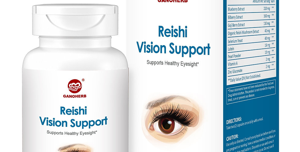 GANOHERB Reishi Vision Support Mineral Eye Supplement With Lutein and Ganoderma