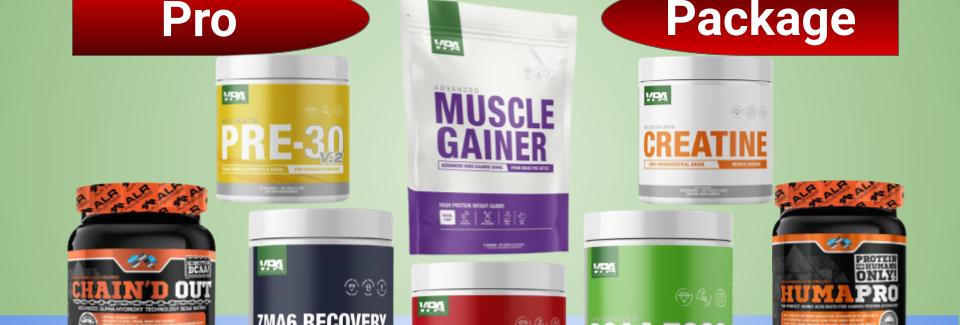 AFC Pro Men's Muscle Building Bundle - Pro Package