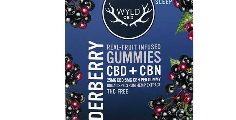 Wyld CBD - CBD Edible - Elderberry CBN Gummies - 25mg