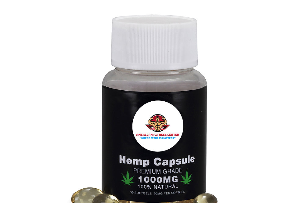 AFC Hemp Seed Oil Capsules - Premium Grade - 100% Natural - 1000MG - 50 Softgels