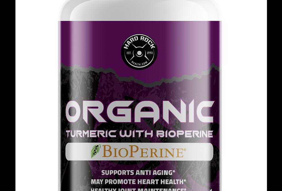 Hard Rock Health® Turmeric W/BioPerine - 650mg (ORGANIC)