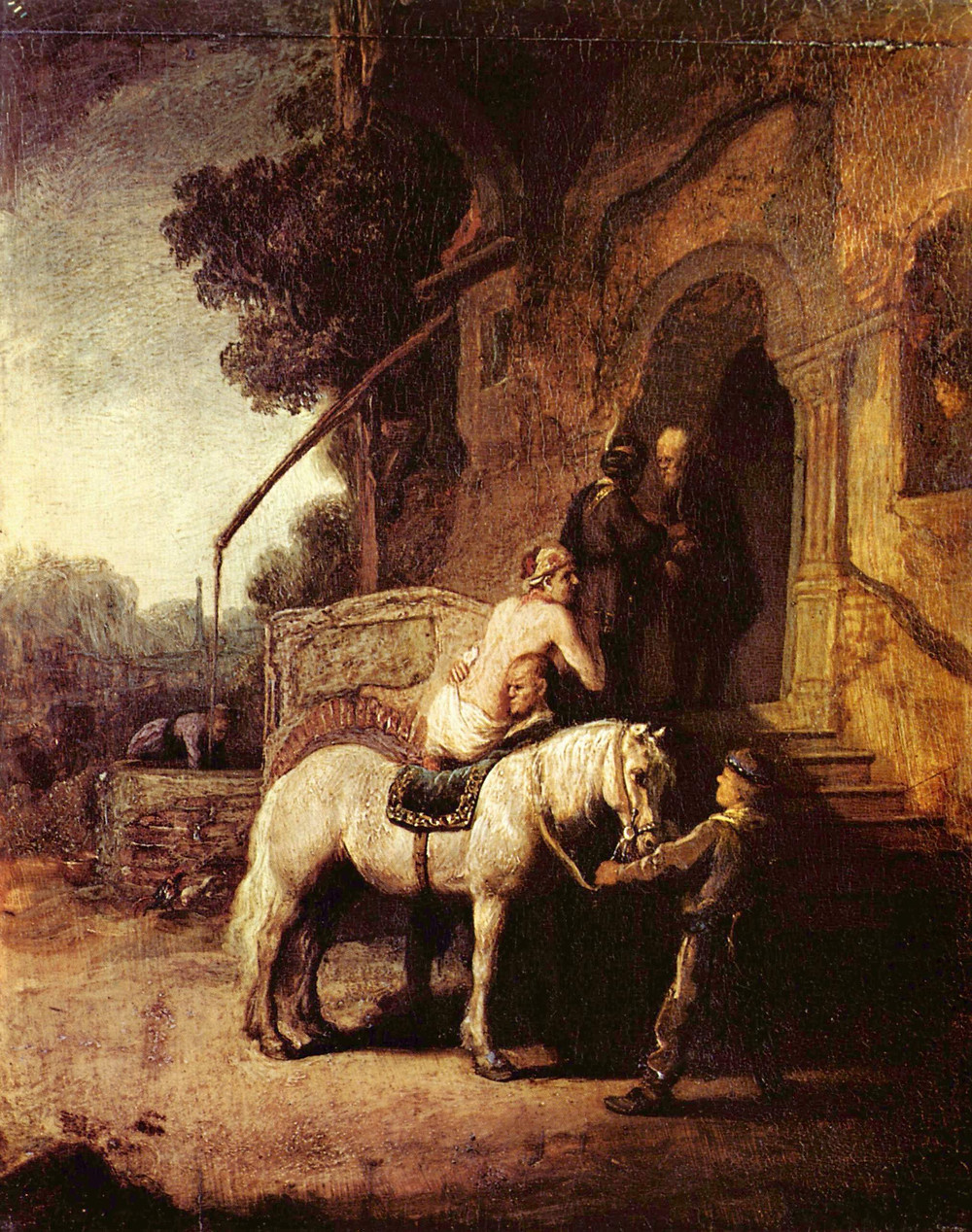 The Good Samaritan depiction by Rembrandt