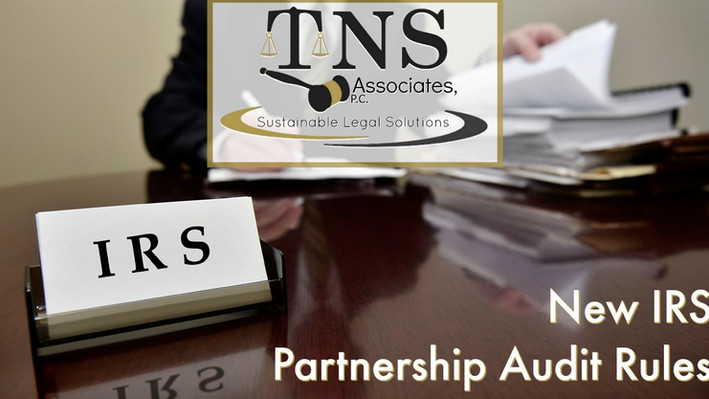 New IRS Partnership Audit Rules