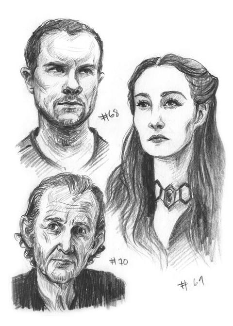 Gendry, Melisandre, Qyburn