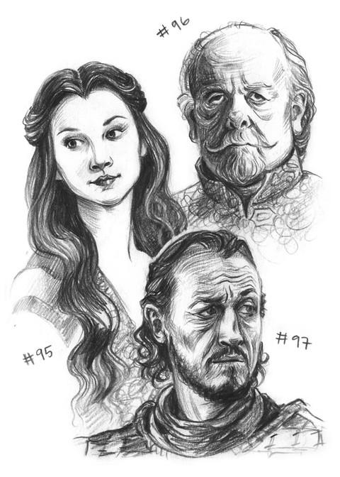 Margery Tyrell, Mace Tyrell, Bronn
