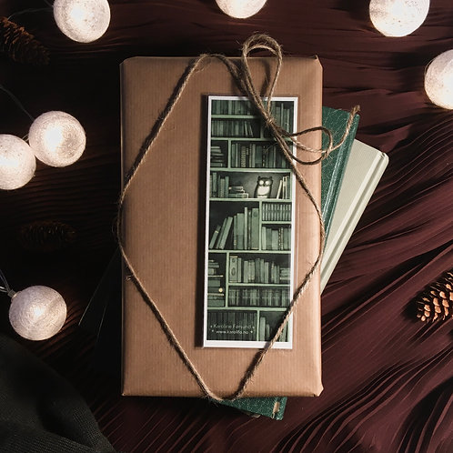 Bokmerke / gavekort - bokhylle 1