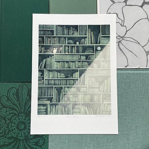 Bare bøker - grønn