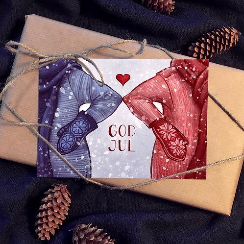God Jul - postkort