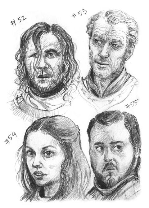 The Hound, Jorah Mormont, Gilly, Samwell Tarly