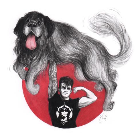 Portrett med kjæledyr