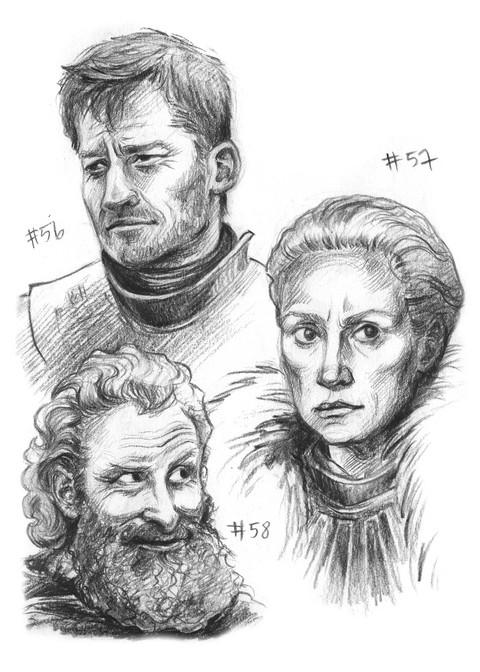 Jaime Lannister, Brienne of Tarth, Tormund Giantsbane