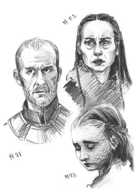 Stannis, Selyse and Shireen Baratheon
