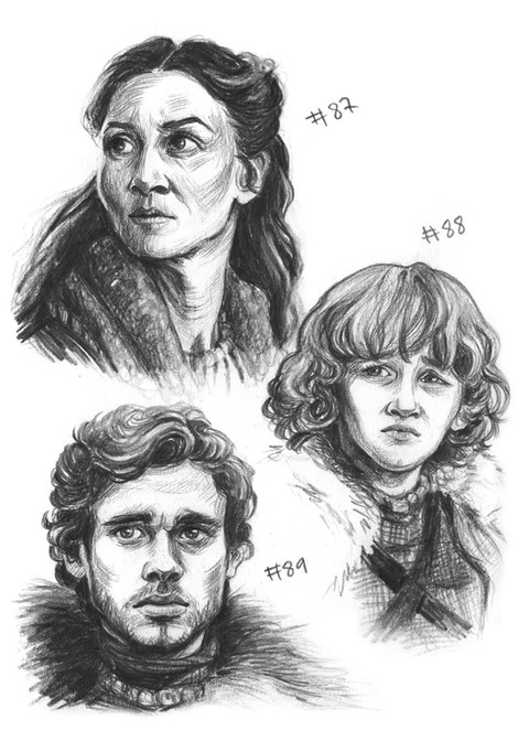 Catelyn Stark, Rickon Stark, Robb Stark
