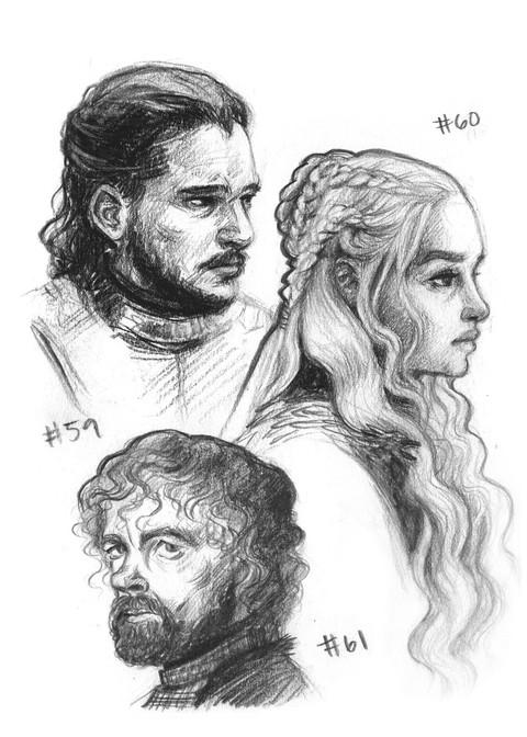 Jon Snow, Daenerys Targaryen, Tyrion Lannister