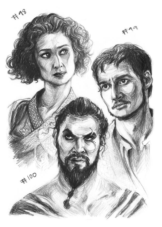 Ellaria Sand, Oberyn Martell, Kahl Drogo
