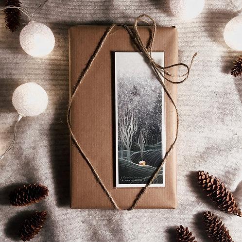 Bokmerke / gavekort - Snøfall