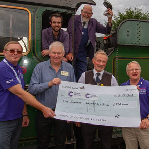 West Somerset Railway Cream Tea Event - #ChuffOffCancer