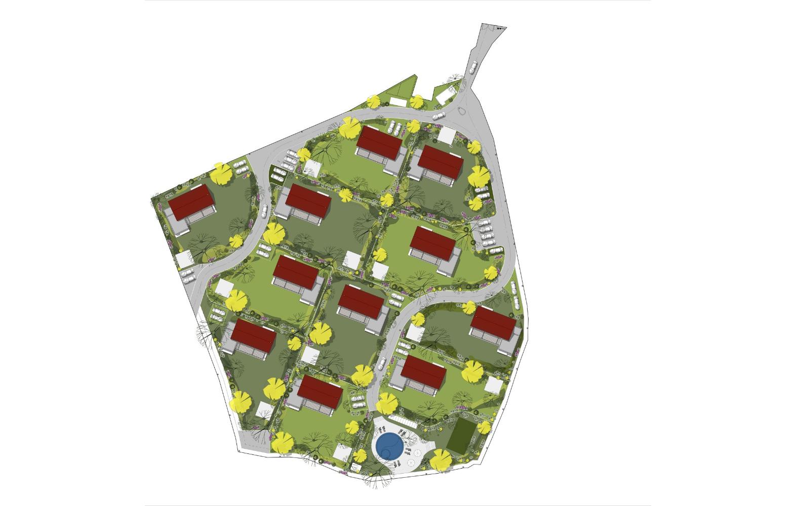 11 Casas planta de conjunto
