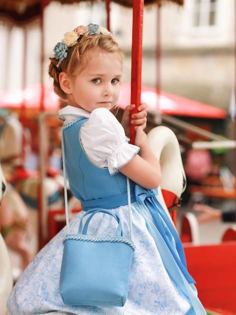"Kinderbluse ""Theresa"" Spitze, Kindertasche"