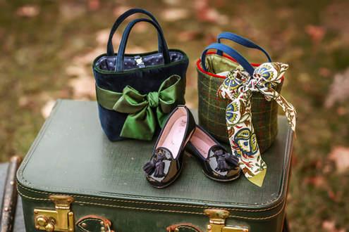 Kindertaschen, Schleife & Schuhe