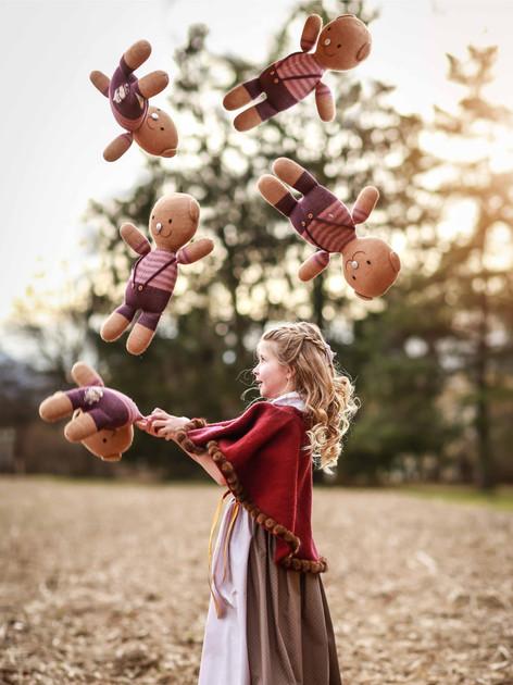 Kinder-Strickcape